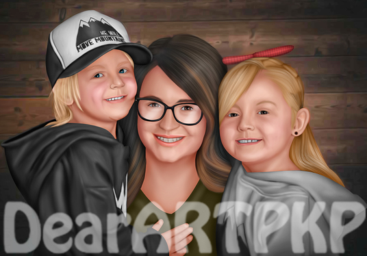 draw realistic painting from photo