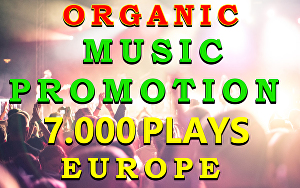 I will do music promotion of 7000 High Quality organic streams for your song