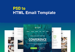 I will convert psd to responsive html email template