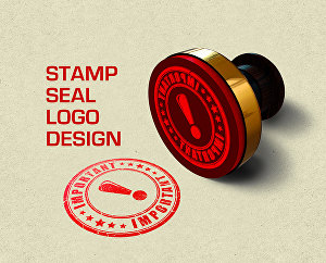 I will design vintage stamp, seal logo