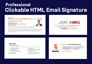 I will do professional clickable html email signature