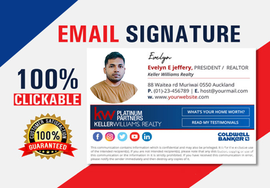 do professional clickable html email signature