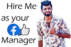 I will be your social media marketing manager on Facebook