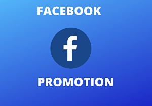 I will Provide Total facebook Promotion Services