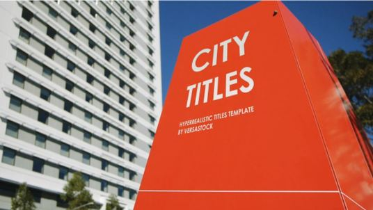 create a hyper realistic city titles and billboard video with your logo