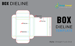 I will create any box dieline template for design and die cut line