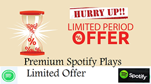 I will give 8k premium spotify track plays - Limited offer