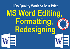 I will Expertly Edit, Format and Create Fillable Ms-Word Document