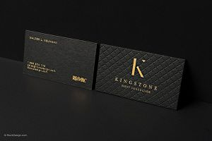 I will design luxury, minimalist, gold foil business card