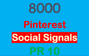 I will provide 8000 Pinterest PR10 Social Signals