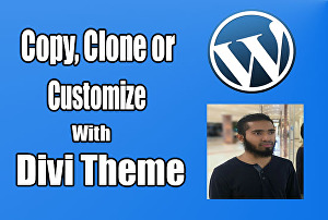 I will copy,  clone, duplicate your website by DIVI Theme