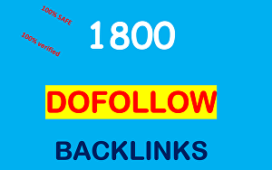 I will Provide 1800 DoFollow backlinks