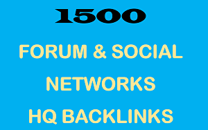 I will Deliver 1500 Forum & Social Networks Backlinks