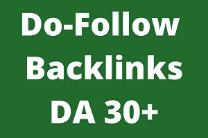 I will Create 10 DA 30+ high authority Do-Follow Backlinks
