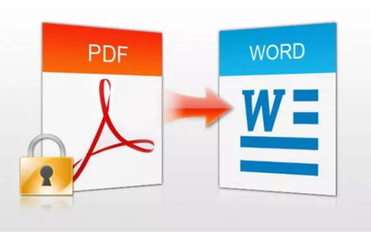 convert PDF to excel or csv or word