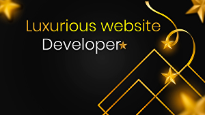 I will create luxurious website