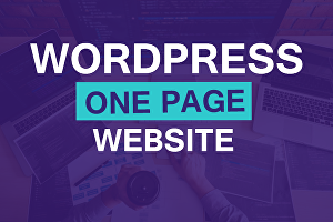 I will create wordpress single page website