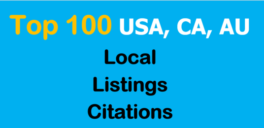Submit Business Details ON 100 TOP USA/UK/CA/AU Citation Sites