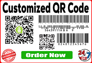 I will create bar-code stickers and qr codes for your products
