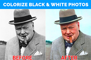 I will convert black & white photos to color