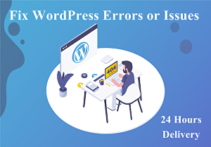 I will fix WordPress issues or errors