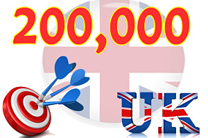 I will deliver 200,000 UK website traffic