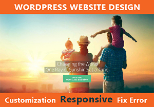 I will Design Responsive wordpress website with all customization
