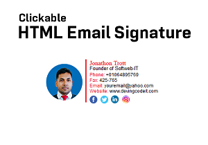 I will create html email signature for you