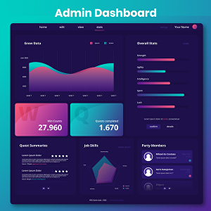 I will design professional web, dashboard and app UI