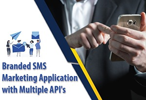 I will provide branded sms and email marketing application