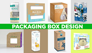 I will design product packaging box design
