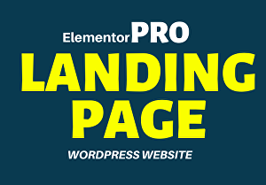 I will create a modern landing page design with elementor pro