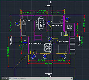 I will make architectural drawings in autocad
