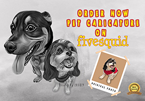 I will change PET photo into CARICATURE