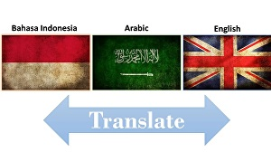 I will translate arabic and english and indonesian