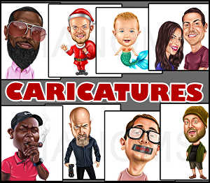 I will draw Detailed color caricature