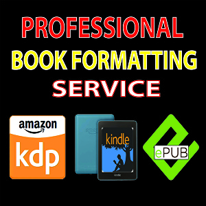 I will Format Your Book For Kindle, Paperback, Ebook