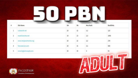 create 50 PBN for your Adult Website