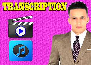 I will do audio transcription and video transcription for 40 minutes