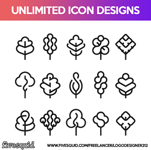 I will design Unlimited Icons for your Website/Blog/App