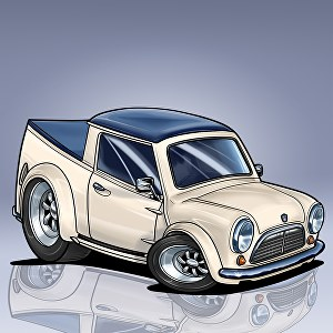 I will draw your car into my cartoon style with detailed artwork