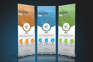 I will do roll up banner, retractable, billboard design