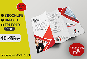 I will design your professional trifold or bifold brochure