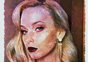 I will paint your portrait from a photo in digital watercolor