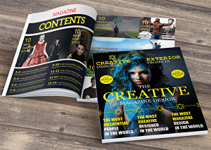 I will do creative and unique magazine or newsletter design