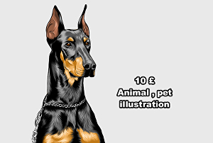 I will draw pet or animal Illustration from photos