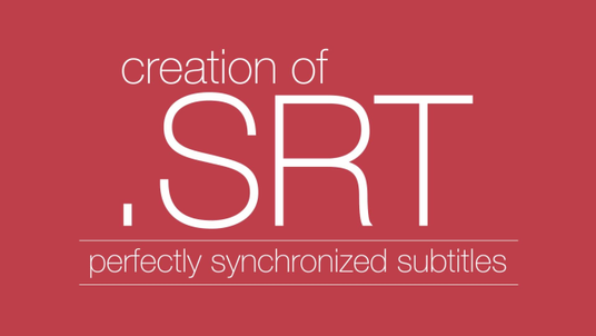 create perfectly synchronized closed caption srt file