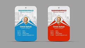 I will design business identity card and  lanyards