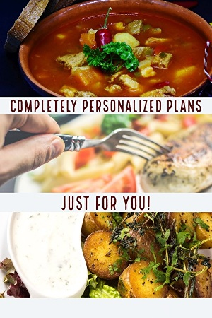 I will customize meal plans and workout plans to fit your needs