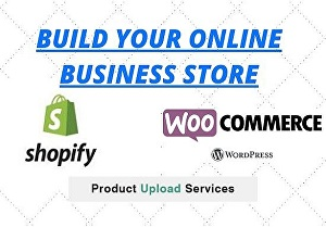 I will build your Shopify or woo-commerce online store